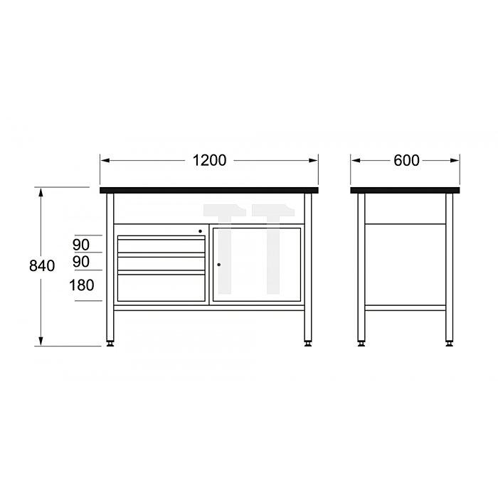 Matador Werkbank 1200 1200x600x840mm B 8154 0030