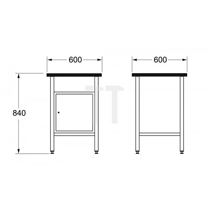 Matador Werkbank 600 600x600x840mm A 8154 0061