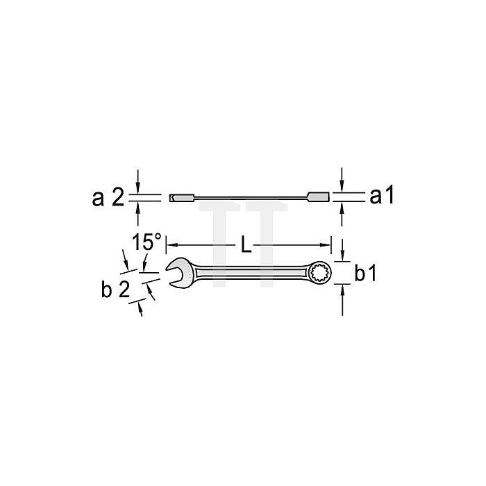 Maulschlüssel mit Ringratsche UD-Profil 1Zoll