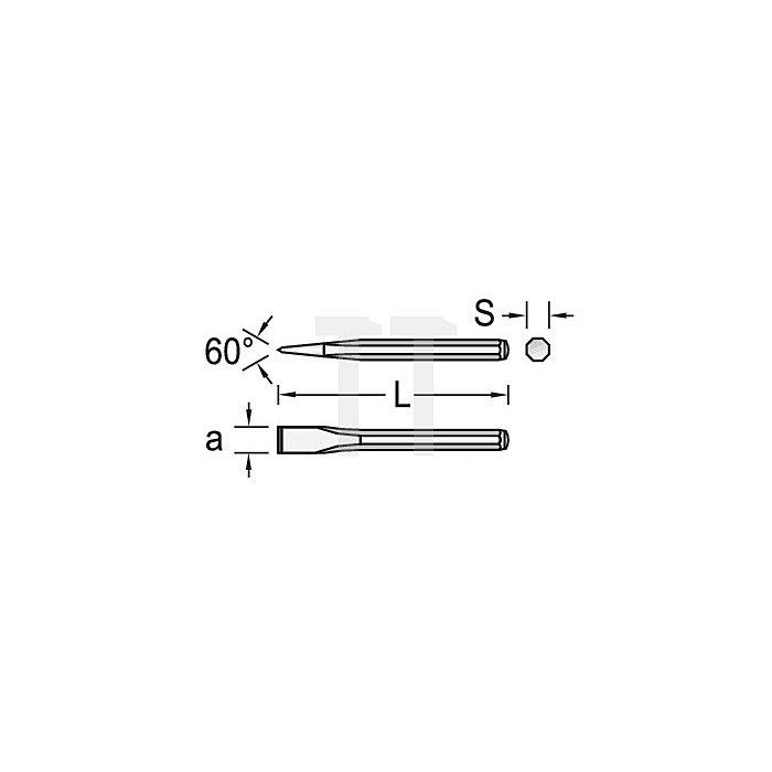 Maurermeißel 350x18mm 8KT m.Handschutz