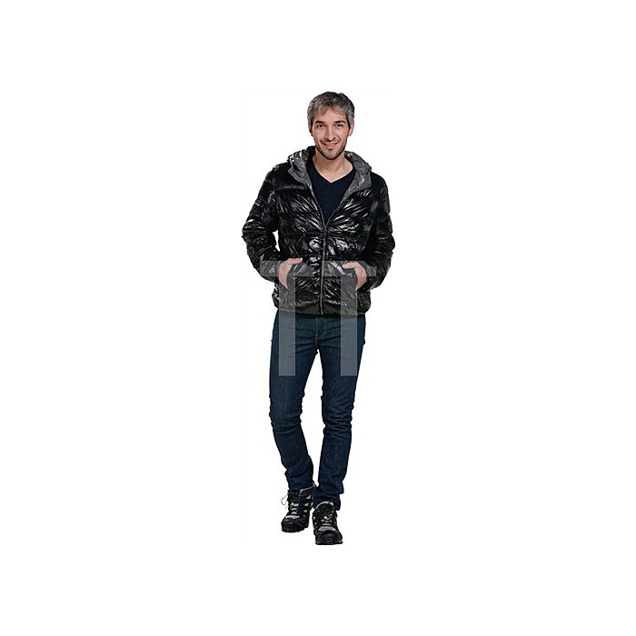 Men s Down Jacket Gr.M schwarz/grau 100% Polyamid