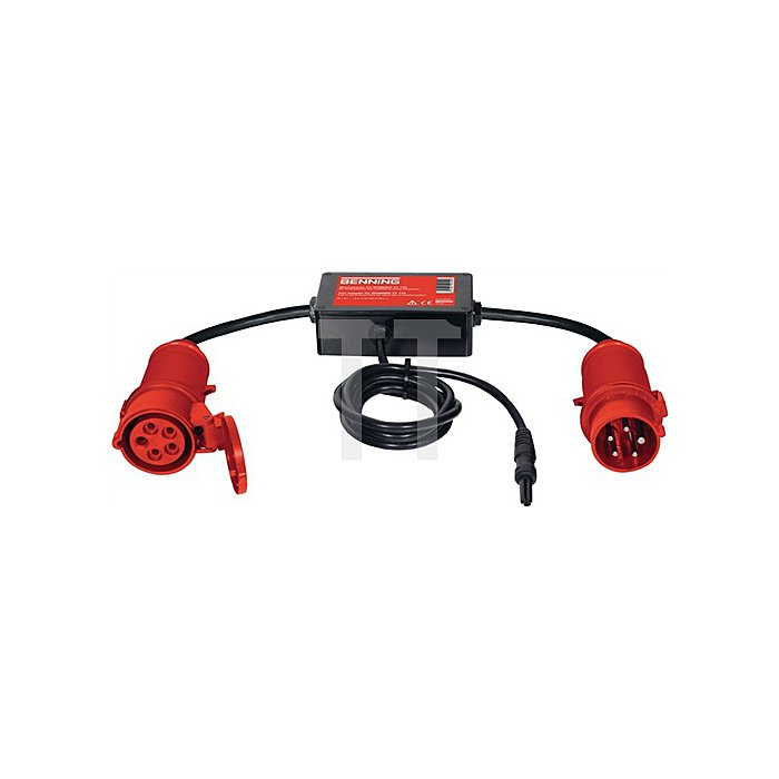 Messadapter 32 A CEE 5-polig aktiv f.freiphasige Verbraucher Rpe/Ipe Benning