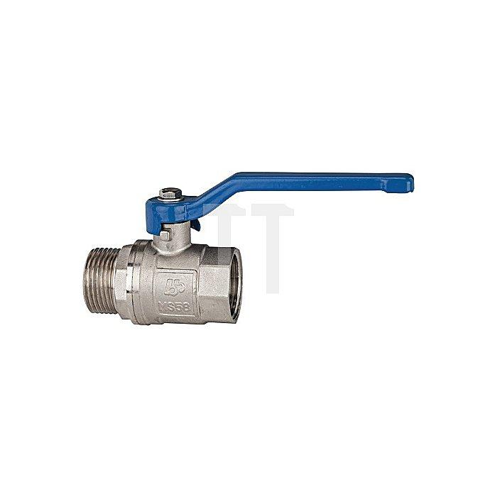 Messing Kugelhahn G 3/8 vernickelt / Innen/Außengewinde valve line