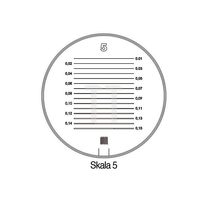 Messskala Tech-Line Skala-D.25/2,5mm Duo-Skala 5