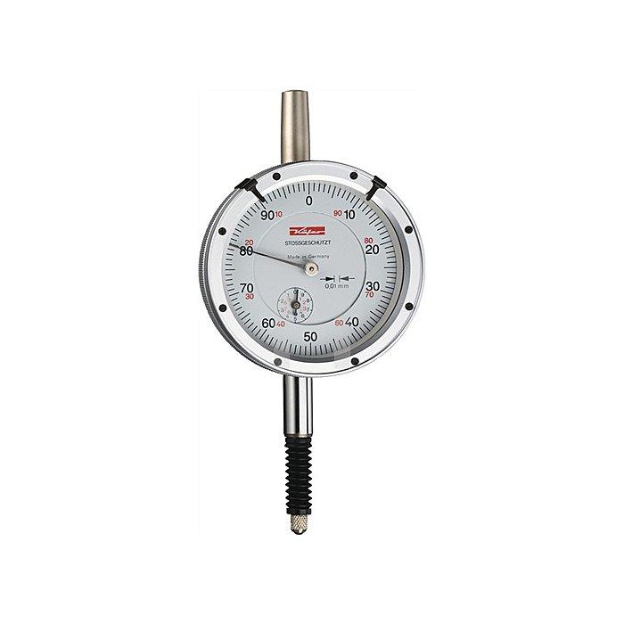 Messuhr KM500SW 1mm Ablesung 0,002mm m. Stoßschutz IP-Schutz m.Werkskalibrierung