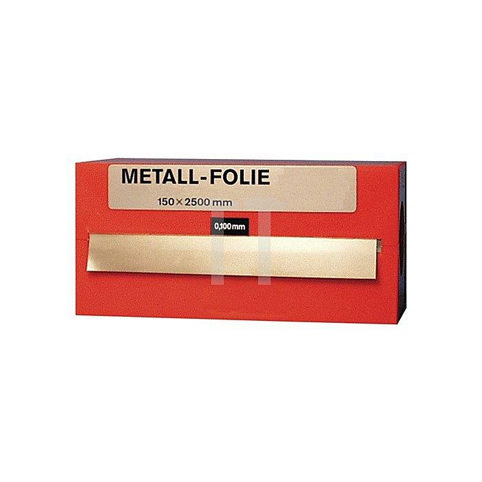Metallfolie Dicke 0,025mm MS63 L.2500mm B.150mm