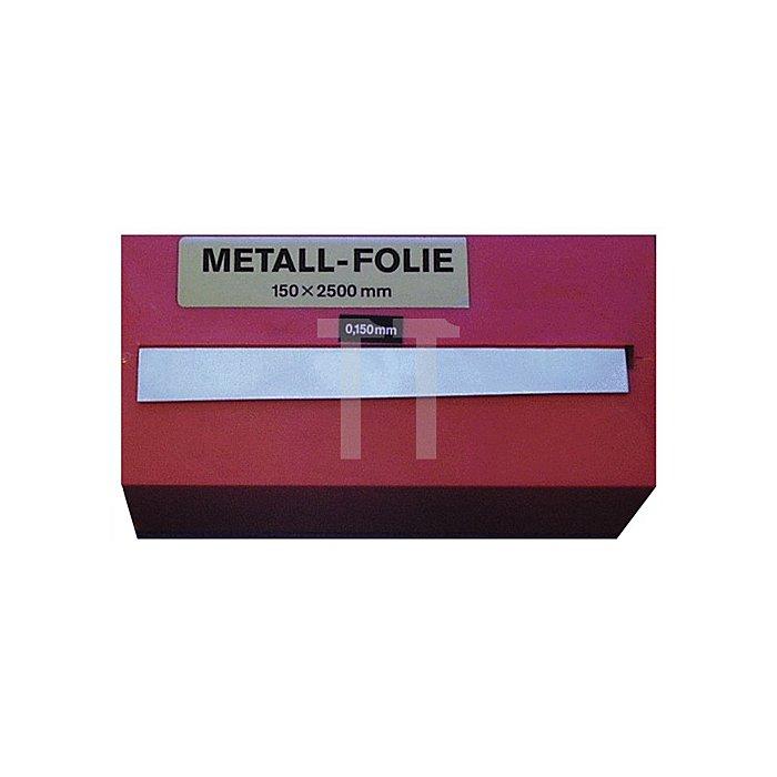 Metallfolie Dicke 0,075mm Stahl L.2500mm B.150mm