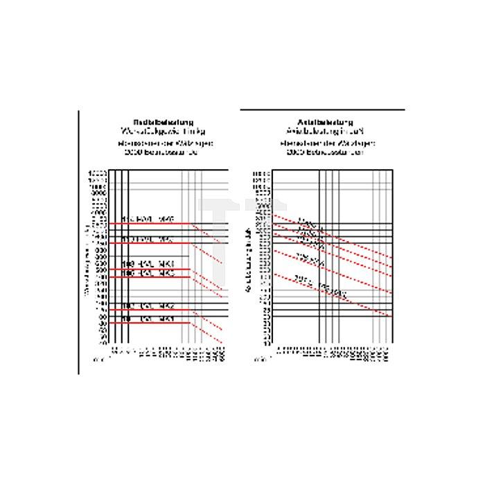 Mitlaufende Zentrierspitzen 60°, MK 3, Größe 106, mit verlängerter Laufspitze