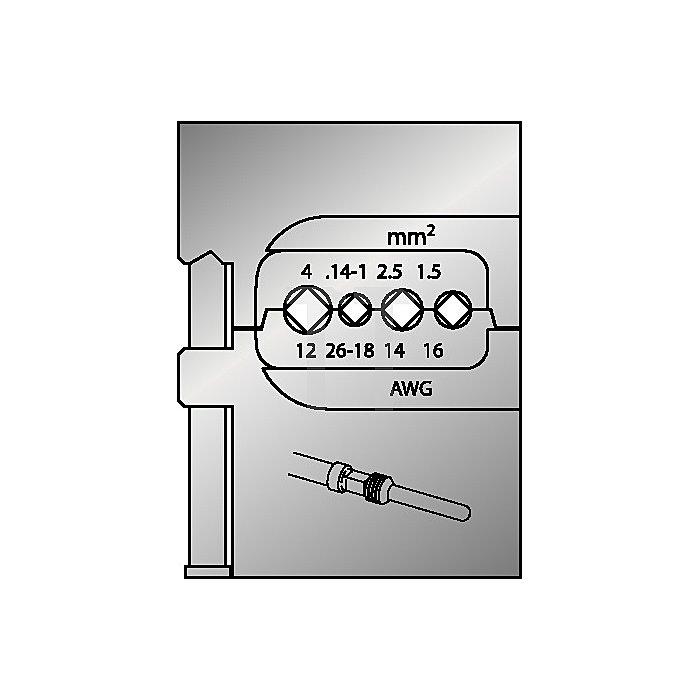 Moduleinsatz D.0,14-4mm2/26-12AWG
