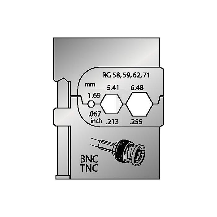 Moduleinsatz D.1,69mm2 5,41mm2 6,48mm2 0,067AWG 0,213 AWG 0,255AWG