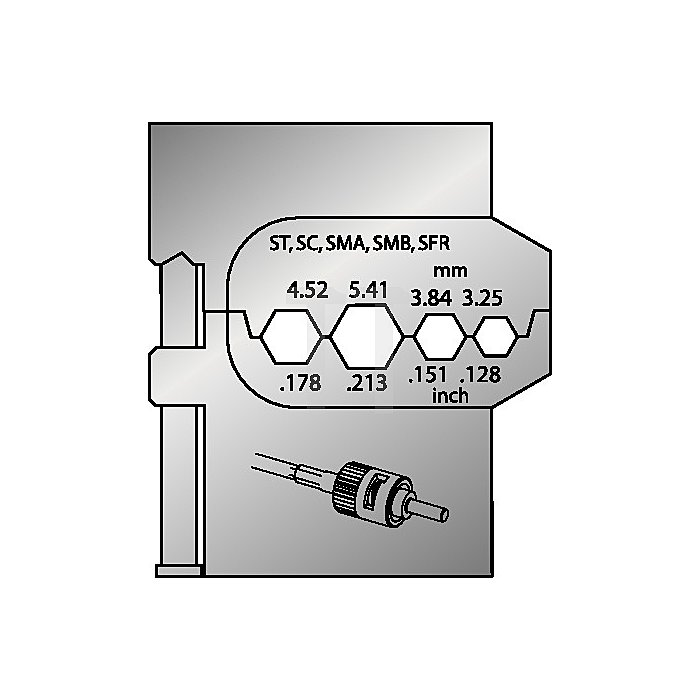 Moduleinsatz für Lichtwellenleiter