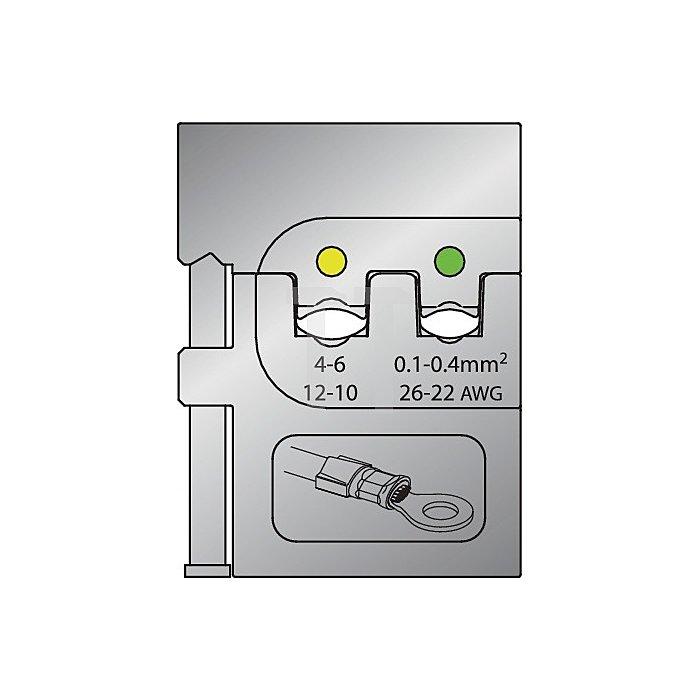 Moduleinsatz Schneidkapazität 0,1-0,4+4-6mm2/ 26-22 u.12-10mm2