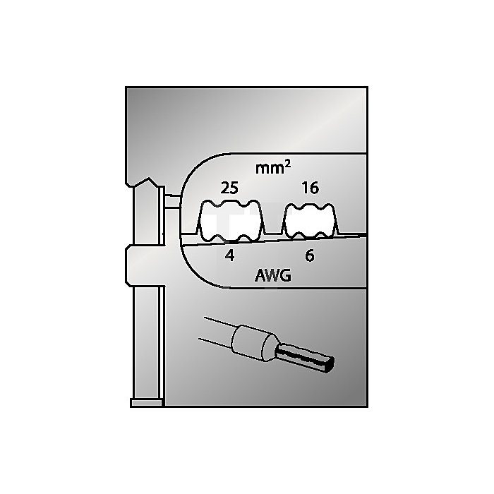 Moduleinsatz Schneidkapazität 16-25mm2/6-4mm2