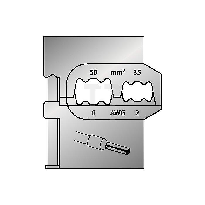 Moduleinsatz Schneidkapazität 35-50mm2/2-0mm2