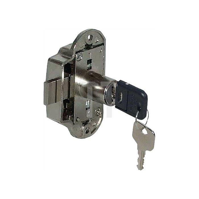 Möbel-Drehstangenschloss System 600 gleichschließend Dorn 25 Stahl vernickelt