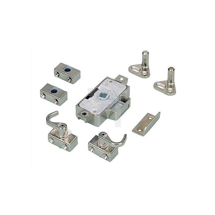 Möbel-Drehstangenschloss System Prestige 2000 / 079804 Dorn 15mm VKnuss Stahl