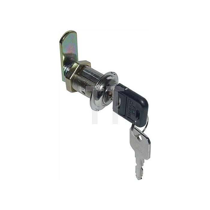 Möbel-Hebelschloss System 600 gleichschließend Stärke bis 17mm Stahl vernickelt