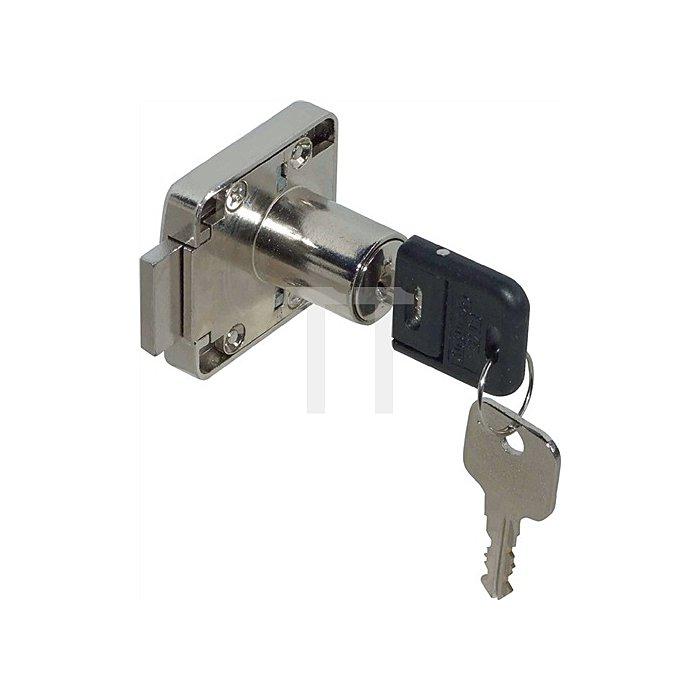 Möbel-Kastenschloss System 600 gleichschließend Dorn 25 DIN L / R Zamak