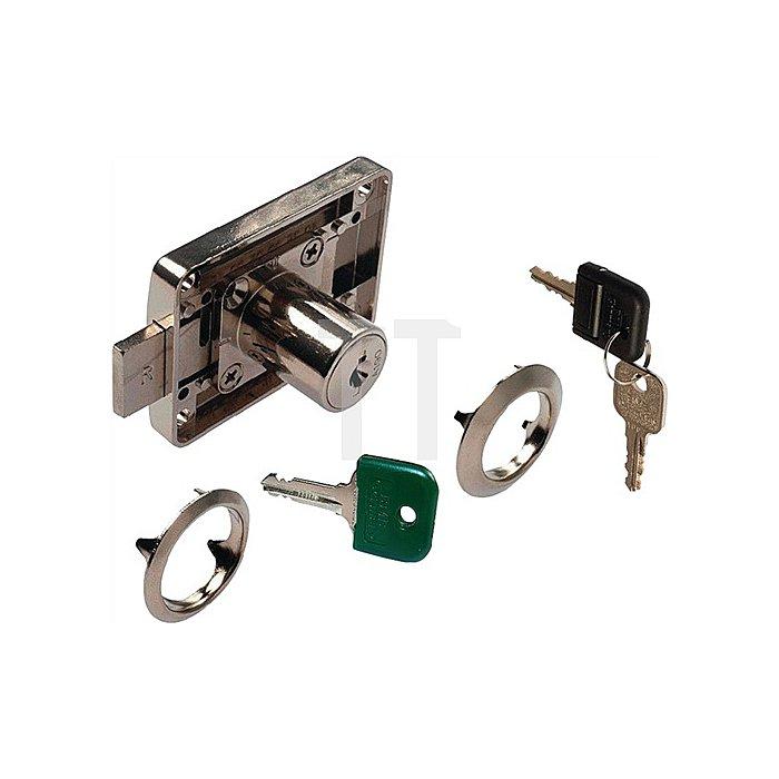 Möbel-Kastenschloss System 600 verschiedenschließend DIN L / R / lad Stahl