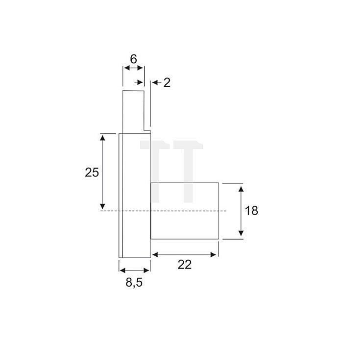 Möbel-Kastenschloss System 600 verschiedenschließend Dorn 25 DIN lad Zamak