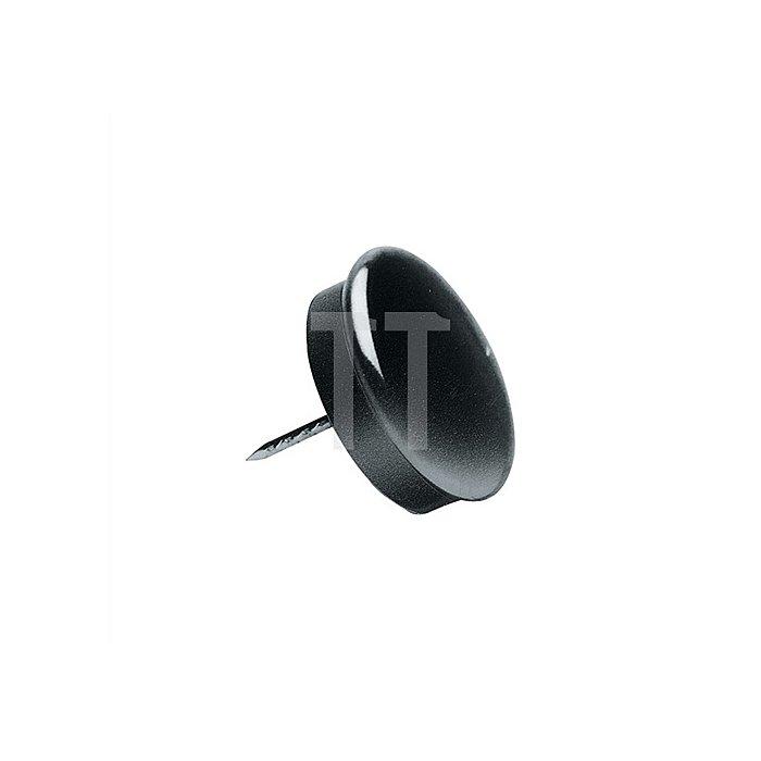 Möbelgleiter Durchmesser 23mm rostfreie Stahlkappe mit Gummieinlage mit Stift