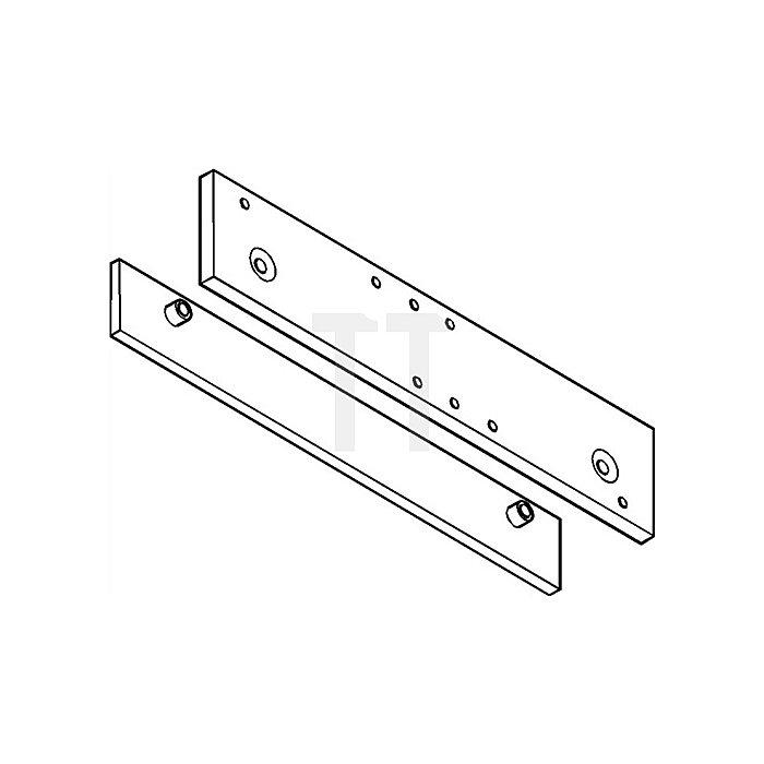 Montage-/Gegenplatte für TS 5000 silber für Ganzglastüren