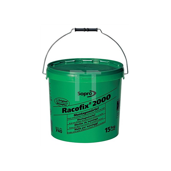 Montagemörtel Racofix 2000 Inhalt 15kg grüner Eimer Verarbeitungszeit ca. 2 Min.