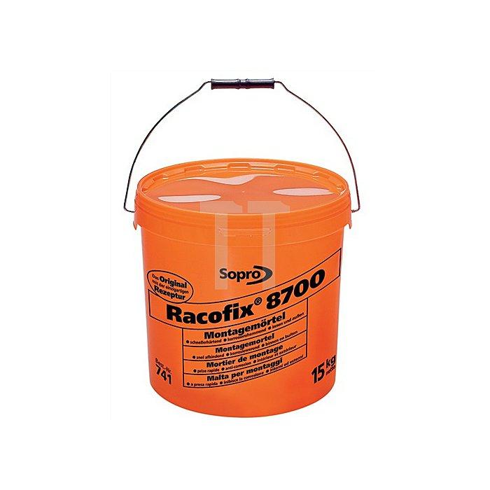 Montagemörtel Racofix 8700 Inhalt 1kg oranger Eimer Verarbeitungszeit 3-5 Min.