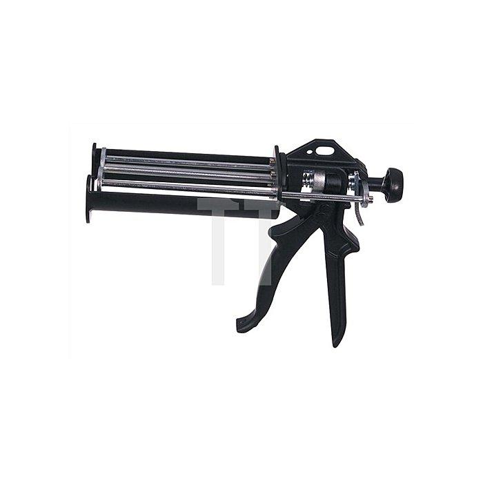 Montagepistole 2K schwarz lack. f.Doppelkartuschen 210ml