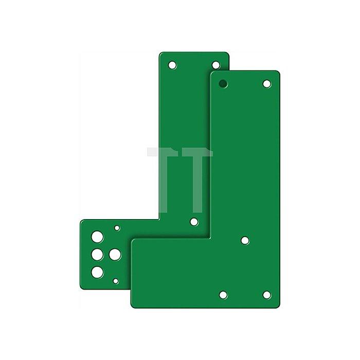 Montageplatte 991 470 DIN li./re.verw.Montage a.Glasrahmen Stahl grün lack.
