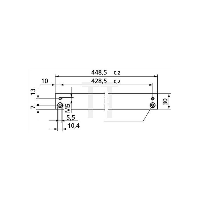 Montageplatte für Gleitschiene zu TS 3000 V / TS 5000 Stahl verzinkt