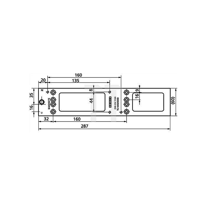 Montageplatte für TS 4000 / TS 5000 weiss RAL 9016