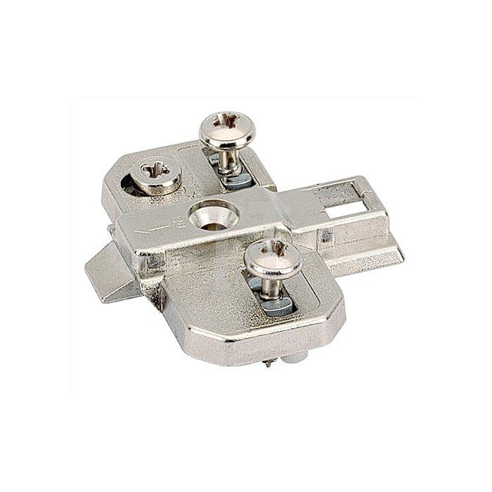 Montageplatte System 9000 Direkt Top / 020010 Distanz 1,5mm vernickelt