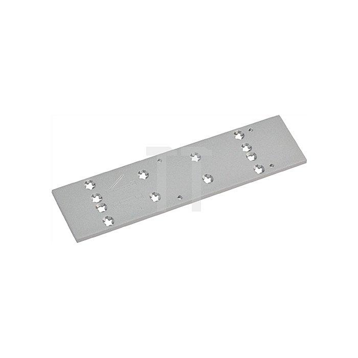 Montageplatte zu TS 83 EN3-6 silber universelle Lochgruppe