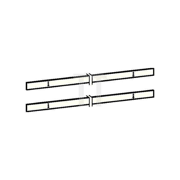 Montageplatten-Set zu Gleitschiene GSR flach weiss (RAL 9016)