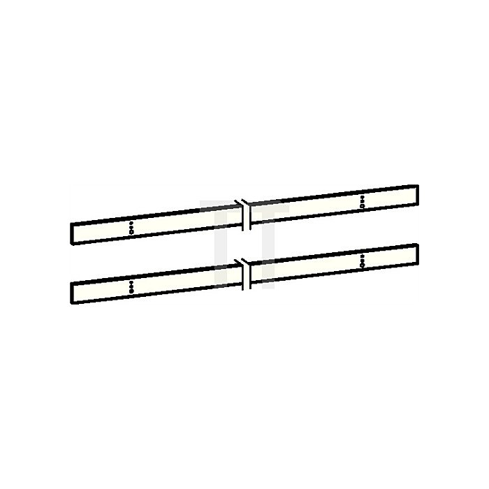 Montageplattenset zu Gleitschiene G-SR H.40mm silber 2x600mm/40mm 1x1832/40mm