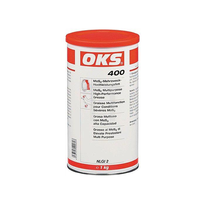 MoS2-Mehrzweck-Hochleistungsfett 1kg Kartusche OKS 400-30 bis +120 Grad