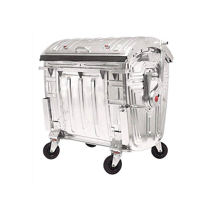 Müllgroßbehälter 1,1m3 verz. 131kg 4Lenkrollen