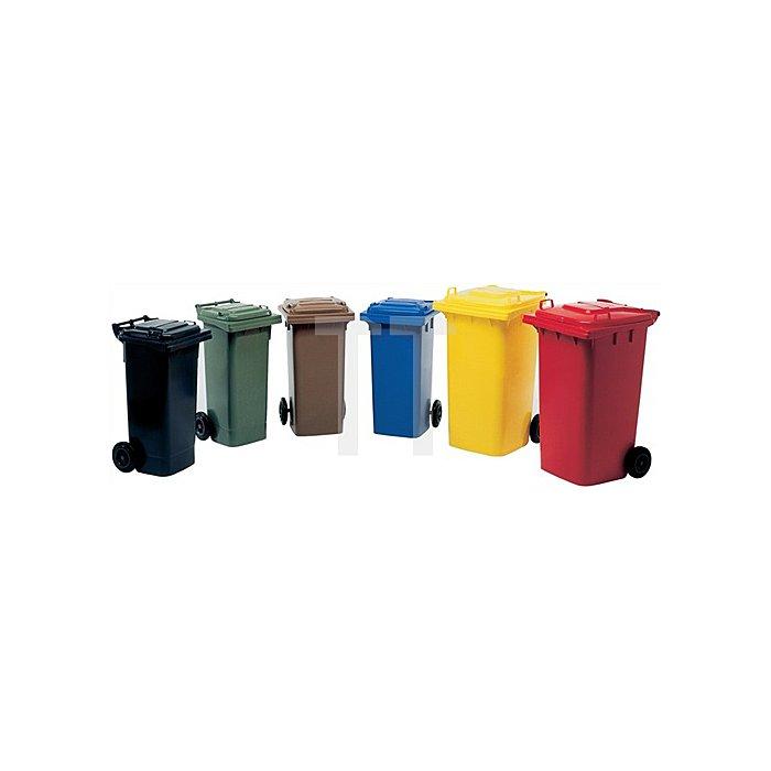 Müllgroßbehälter 240l rot a.Niederdruck-PE Rad-D.200mm