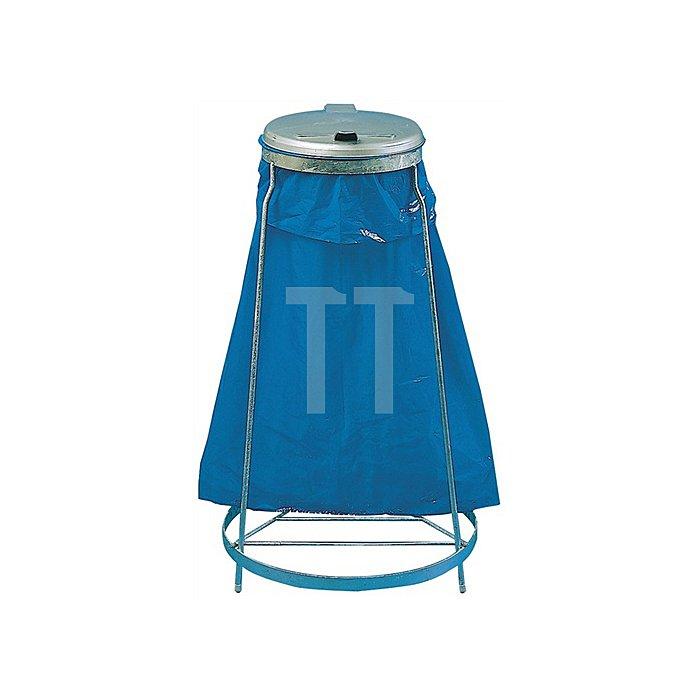Müllsackständer MST1026 f.120l Stahlrohrgestell verz. m.Ku.-Deckel