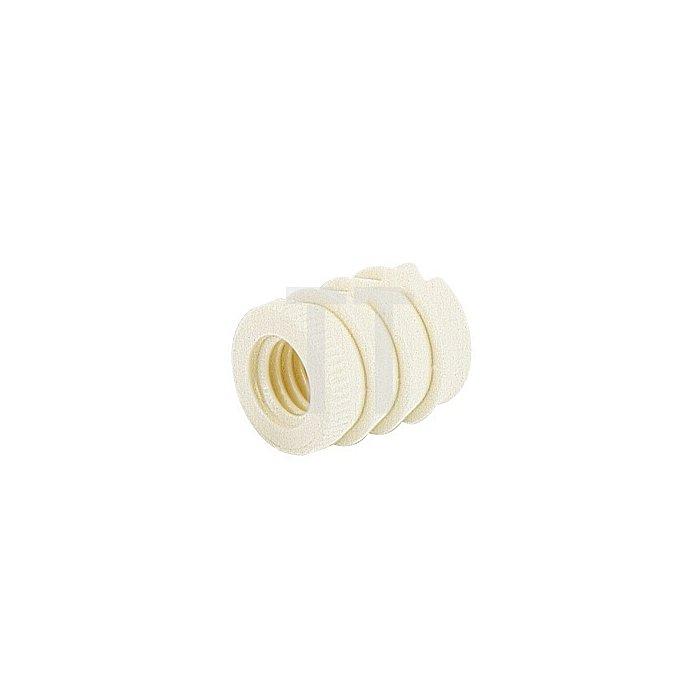 Muffe 100 / 079540 Durchmesser 10x13mm Kunststoff weiss Gewinde M6