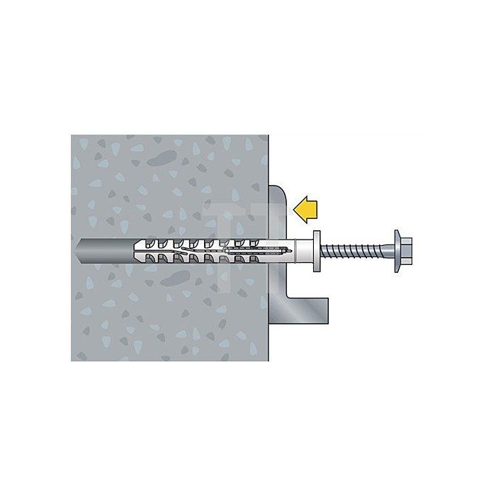 Multifunktionsrahmendübel MFR SB 10-100 TX Senkbund mit Torxschraube vormontiert
