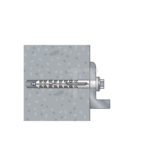 Multifunktionsrahmendübel MFR SB 10-115 SSKS A4 Senkbund m. 6-kt.-Schraube mont.