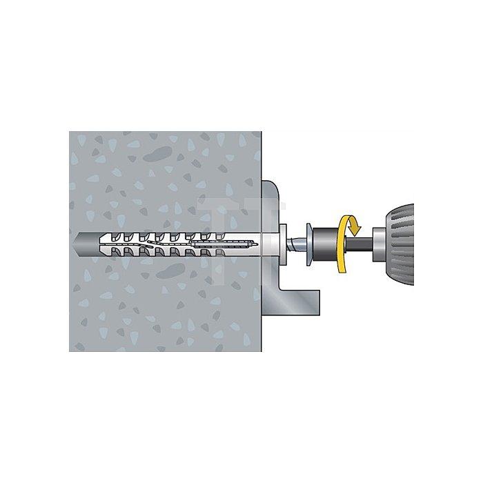 Multifunktionsrahmendübel MFR SB 10-80 SSKS A4 Senkbund m. 6-kt.-Schraube mont.