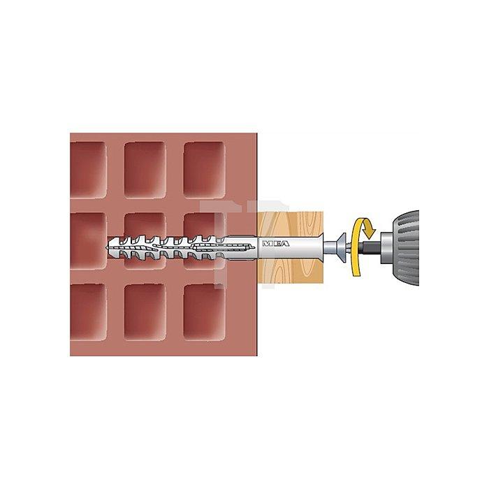 Multifunktionsrahmendübel MFR SB 10-80 TX A4 Senkbund mit Torxschraube vormont.