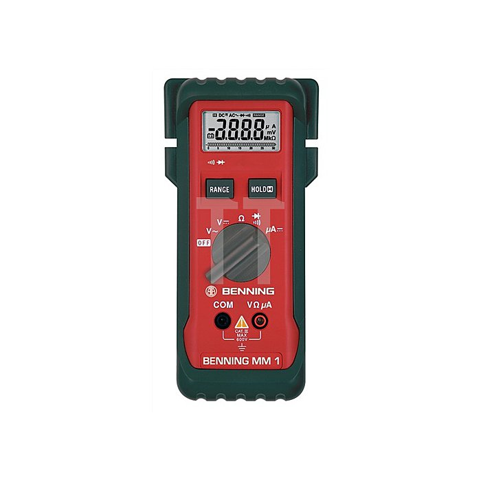 Multimetermm 1 Dig. Multitester I Messwertspeicher BENNING 0,1-600V AC/DC