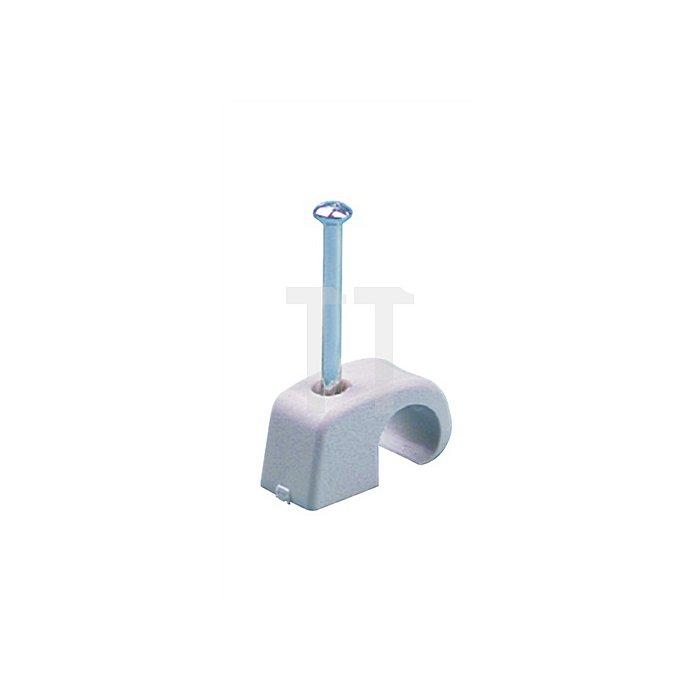 Nagelschelle f.D.5-7mm Nagel 2x30mm m.Stahlnagel 100St./Krt.