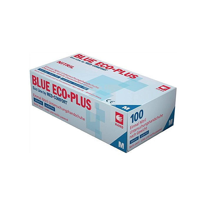 Nitrileinweghandschuhe Gr. M Blue Eco Plus puderfrei blau 100 Stück/Karton