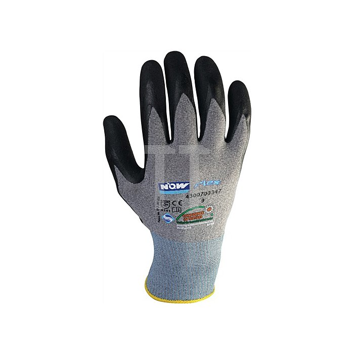 NOW Handschuh EN388 Kat.II Gr.10 HitFlex N Nitrilbeschichtung schwarz mit Noppen