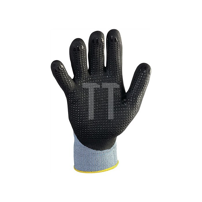 NOW Handschuh EN388 Kat.II Gr.11 HitFlex N Nitrilbeschichtung schwarz mit Noppen